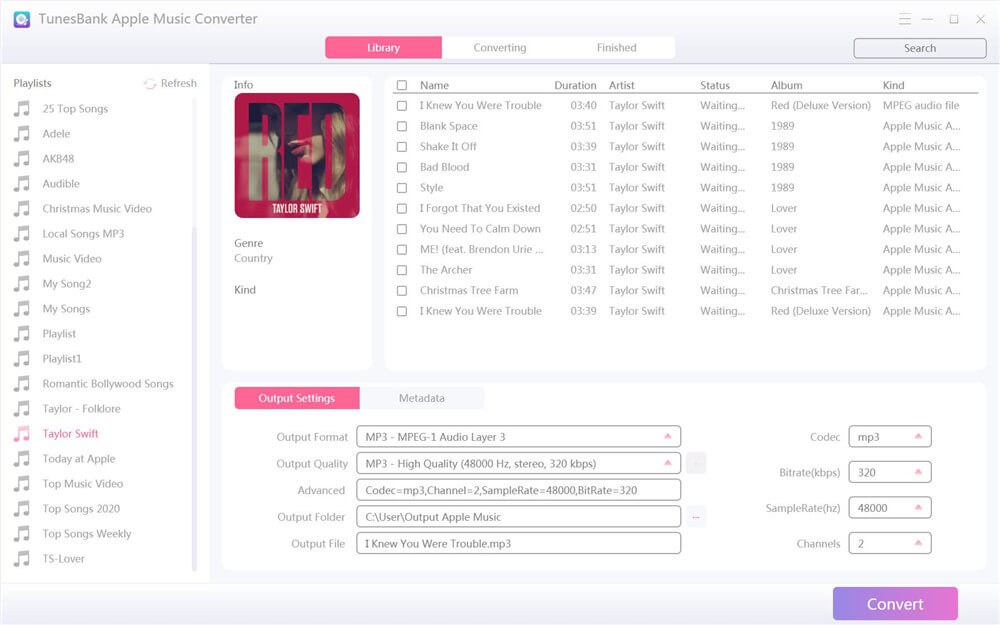 run tunesbank apple music converter