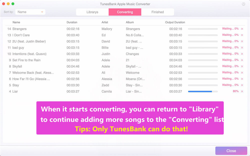 start to convert apple msuic to mp3