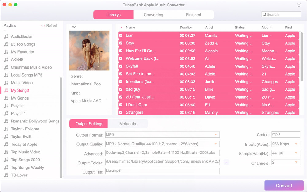 select itunes m4p songs