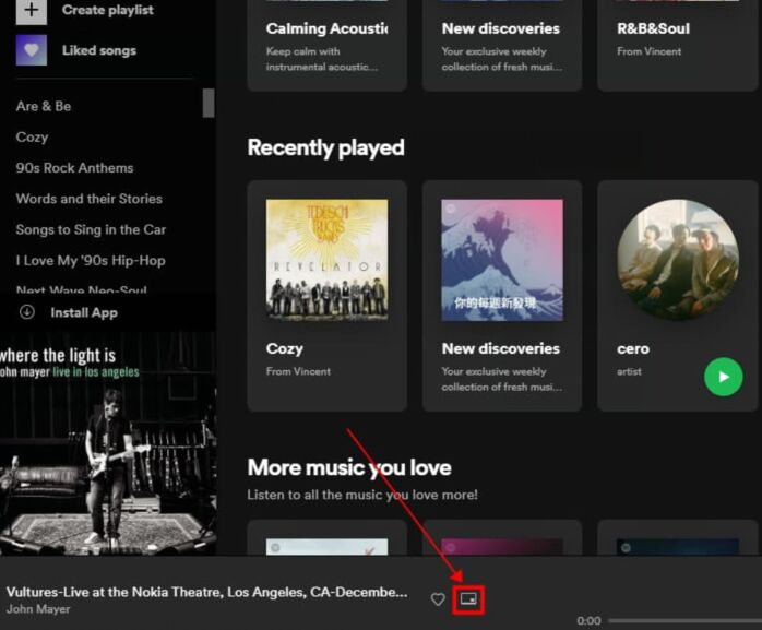make spotify mini player on computer with chrome
