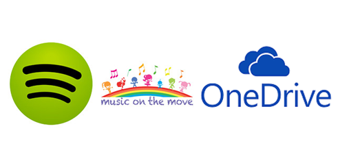 upload spotify music files to onedrive