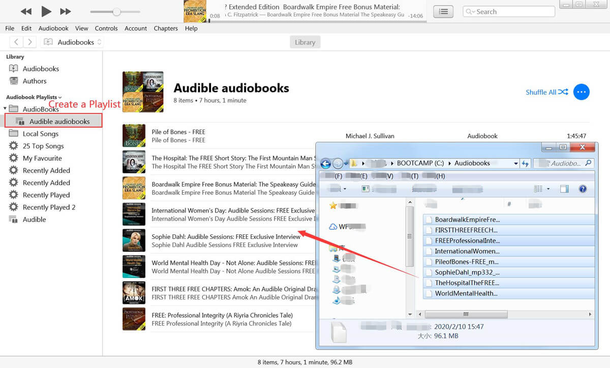 Add Audible AAX files to iTunes