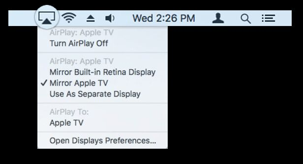 AirPlay Apple Music to Apple TV on mac