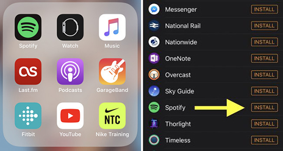 install spotify to apple watch