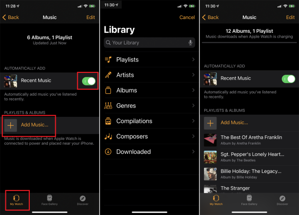 sync apple music playlists to watch