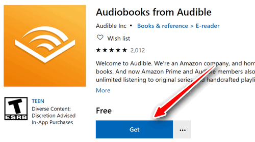 download audible app for windows