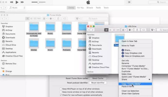 transfer itunes musci to usb