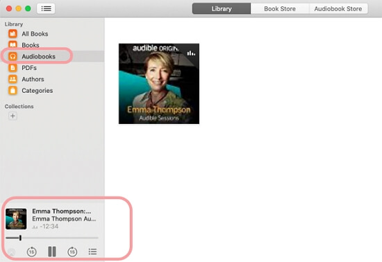 play audible apple book