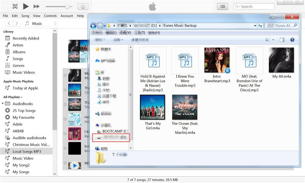 transfer itunes music to usb finished