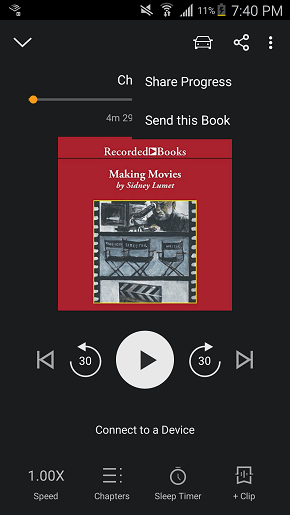 audible for android player screen share